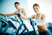 Training in health club — Stock Photo