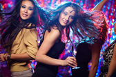 Dancing with friends — Stock Photo