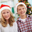 Christmas siblings — Stock Photo #31205831