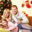 Relaxed family — Stock Photo