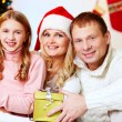 Family with presents — Stock Photo