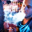 Guy smoking — Stock Photo