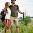 Hikers with backpacks — Stock Photo #31209175