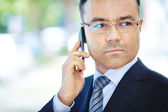 Man with cellphone — Stock Photo