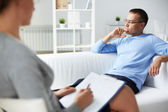 Consultation of psychiatrist — Stock Photo