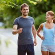 Friendly runners — Stock Photo