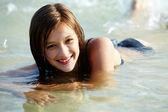 Garota de natação — Foto Stock