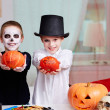 Stock Photo: Halloween evening