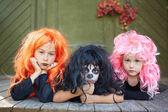 Halloween friends — Stock Photo
