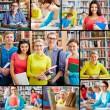 uczniów w bibliotece — Zdjęcie stockowe