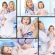 Doctor with baby — Stockfoto #32884277