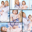 Doctor with baby — Stockfoto