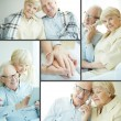Seniors at home — Stock Photo