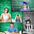 Stock Photo: Intelligent students