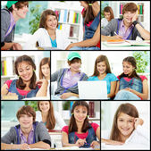 Teens at college — Stock Photo