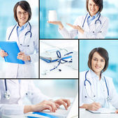 Clinician working — Stock Photo