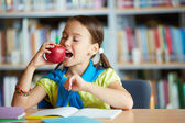 Eating apple — Stock Photo