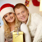 Merry couple — Stock Photo