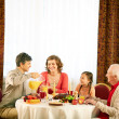 Having dinner — Stock Photo