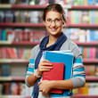 Stock Photo: Student in library