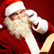Santa with letter — Stock Photo