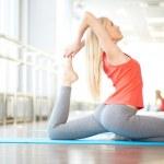 exercício de alongamento — Foto Stock