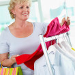 Shopper with tanktop — Stock Photo