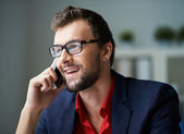 Phoning client — Stock Photo