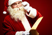 Kind Santa Claus — Stockfoto