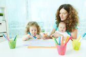 Home schooling — Stock Photo