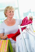 Shopper with tanktop — Stock Photo