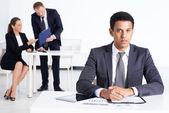 Busy employee — Stockfoto