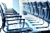 Rows of chairs — Foto Stock