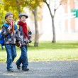 Twin schoolkids — Stock Photo #35270441