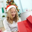 Girl with present — Stock Photo #35270573