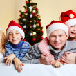 Stock Photo: Family of Santas