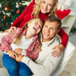 Stock Photo: Happy family on Christmas day