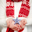 Holding star — Stock Photo