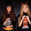 Stock Photo: Halloween girls
