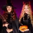 Halloween witches — Stock Photo
