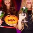 Halloween cocktails — Stock Photo