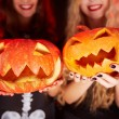 Stock Photo: Pumpkin grins