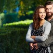 Happy couple outdoors — Stockfoto