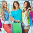 Company of shoppers — Stock Photo #35274881