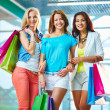 Girlfriends in the mall — Stock Photo
