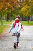 Cheerful schoolchild — Stock Photo