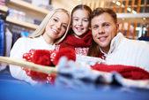 Семья покупателей — Стоковое фото
