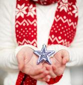 Holding star — Stock Photo