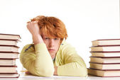 Reluctant to study — Stock Photo
