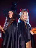 Witches in the dark — Stock Photo